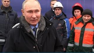 Путин открыл Репинскую развязку на Ленинградском шоссе