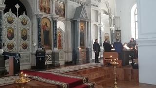 Архиерейский хор Спасо-Преображенского собора г.Бутурлиновка. Видеозапись Богослужения.