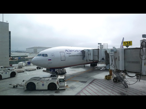 4K Boeing 777 300ER Aeroflot Los Angeles Moscow SVO Full flight