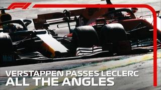 Verstappen's Pass On Leclerc - All The Angles | 2019 Austrian Grand Prix