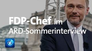 """FDP-Chef Lindner im ARD-Sommerinterview: """"Für uns zählen Inhalte""""   2021"""