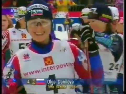 1997 02 24 Чемпионат мира Тронхейм лыжные гонки 10 км женщины свободный стиль