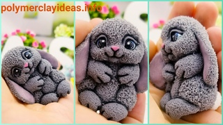 Polymer clay rabbit. Sculpting Rabbit from polymer clay tutorial