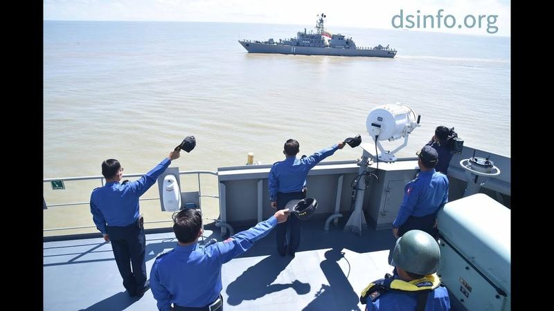 ရေငုပ်သင်္ဘောစစ်ရေယာဉ် မင်းရဲသိင်္ခသူပါဝင်သည့် စစ်ရေယာဉ်ပင်လယ်ပြင် လက်တွေ့လေ့ကျင့်ခန်