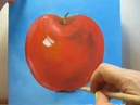 Как рисовать яблоко маслом. Урок живописи №3 по шагам для начинающих с нуля