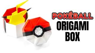 Origami Pokeball Box Tutorial - Pokemon DIY - Paper Kawaii