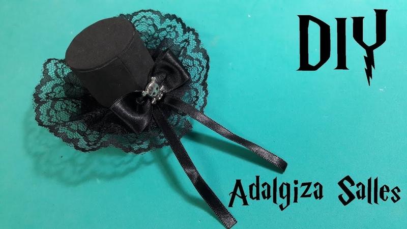 DIY- Mini cartola no bico de pato - Gothic top hat - mini sombrero - passo a passo completo