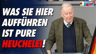 Was Sie hier aufführen ist pure Heuchelei! - Alexander Gauland - AfD-Fraktion im Bundestag