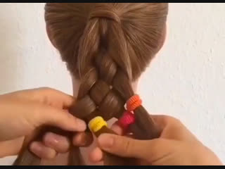 Шикарная косичка для девочки