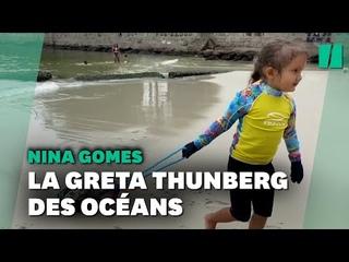 Rio, cette enfant de 4 ans dbarrasse l'ocan de ses dchets