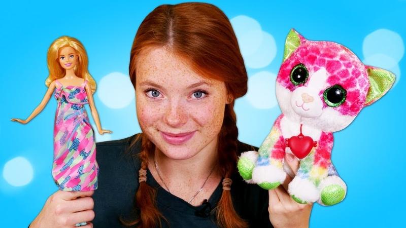 Barbie und Irene finden ein Kätzchen - Spielzeugvideo für Kinder auf Deutsch - Spielspaß mit Puppen
