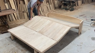 Design Ideas Project Woodworking Furniture Space Saving - Build A Smart Bed Combination With A Sofa