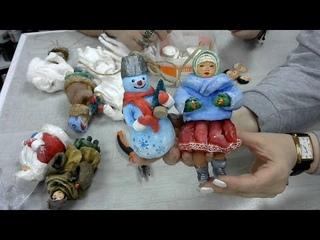 Дед мороз - ватная игрушка сосулька. Васько Елена