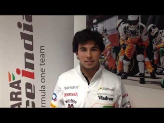 Sergio Perez greets the Sahara Force India fans!