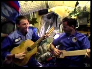 A Blast from the Past: Chris Hadfield plays guitar on Space Station Mir