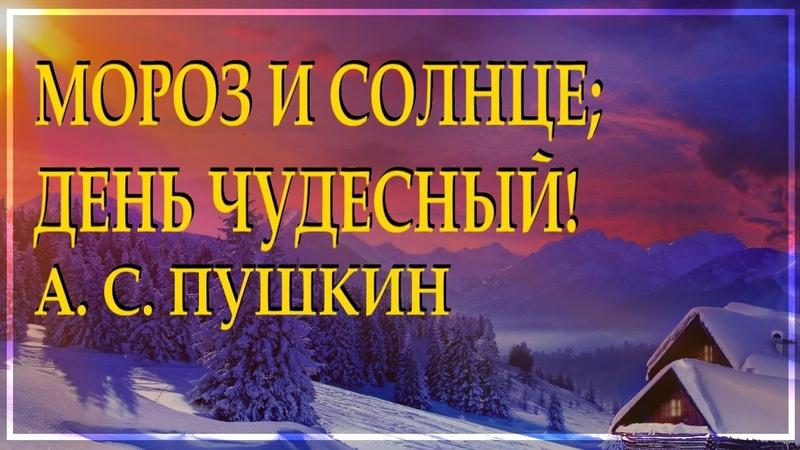 Классика на все времена Зимнее утро А С Пушкин красиво читает Леонид Юдин