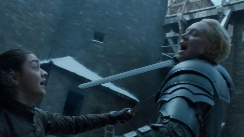 Игра престолов Арья Старк против Бриенны Тарт