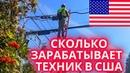 США. Сколько может зарабатывать техник в США. The salary of Cable Technician in USA