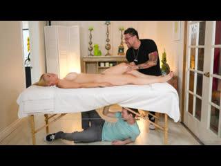 Sarah Vandella - Hiding Under The Massage Table - All Sex MILF Oil Big Tits Juicy Ass Chubby Blonde Massage Deepthroat Cum, Porn
