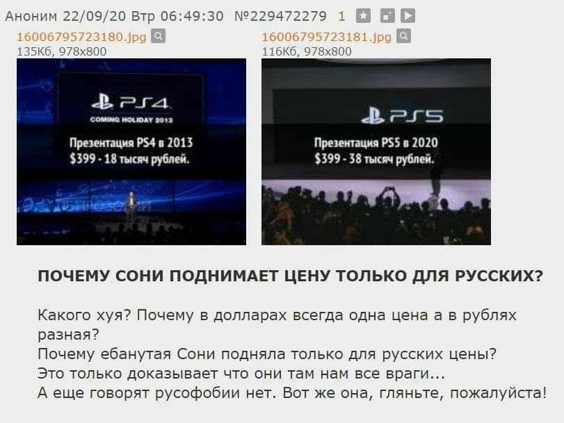 немного об инфляции...и Sony