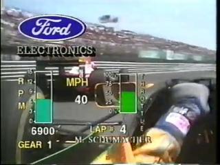 F1, Montreal 1993 (Race) Michael Schumacher OnBoard