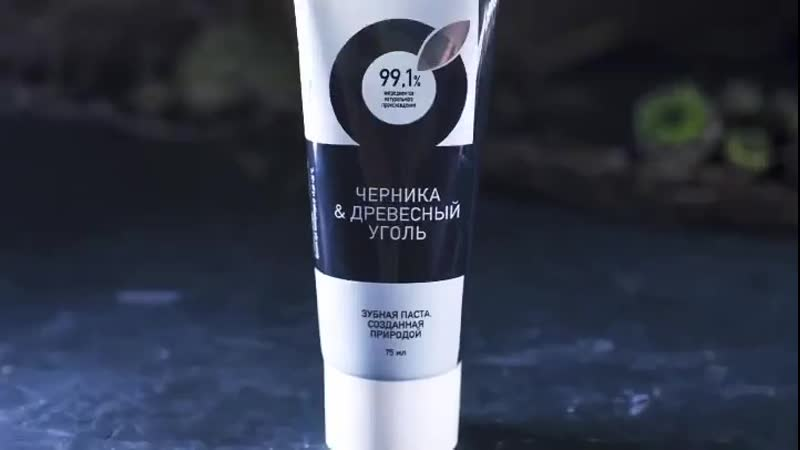 Зубная паста ЧЕРНИКА ДРЕВЕСНЫЙ УГОЛЬ