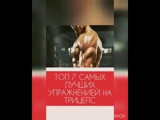 Топ 7 самых эффективных упражнений на трицепс от brend тренера Nikonova Tony