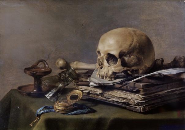 Питер Клас (нидерл. Pieter Claesz (ок. 1597, Берхем 1 января 1661, Харлем) голландский художник Золотого века, мастер натюрморта. Натюрморт Vanitas (Vanitas still life) 1630_39.4 х 56_д.,м.