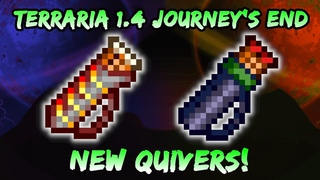 NEW Molten Quiver & Stalker's Quiver in Terraria Journey's End 1.4! Upgraded Magic Quiver!