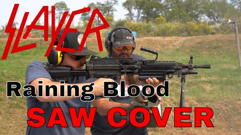 Raining Blood WITH A SAW slayer gundrummer
