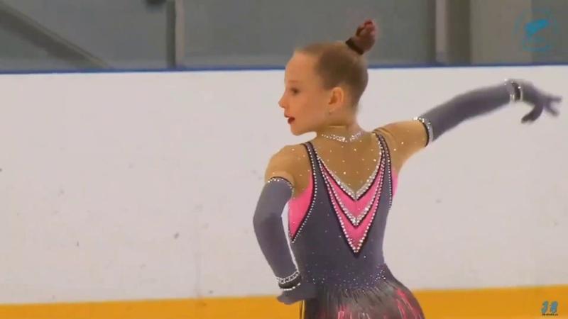 Alisa Krigina(2011), SP, 2019.11.12 Кубок Петра Великого 1 этап