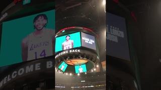 Lonzo Ball, Brandon Ingram, and Josh Hart got a tribute video in their return to LA vs. the Lakers