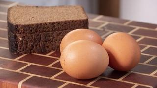Яйца и хлеб. Этот завтрак вас очень удивит. Так вы точно никогда не делали. Ресторанный рецепт.