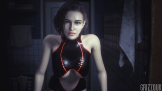 Resident Evil 3 Remake Jill Valentine in The Thicc Jiggle Suit PC Mod
