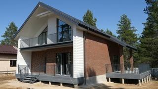 Обзор современного дома.Если он вам понравился- мы готовы строить.
