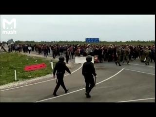 Столкновения между мигрантами и Росгвардией на российско-казахстанской границе в Самарской области
