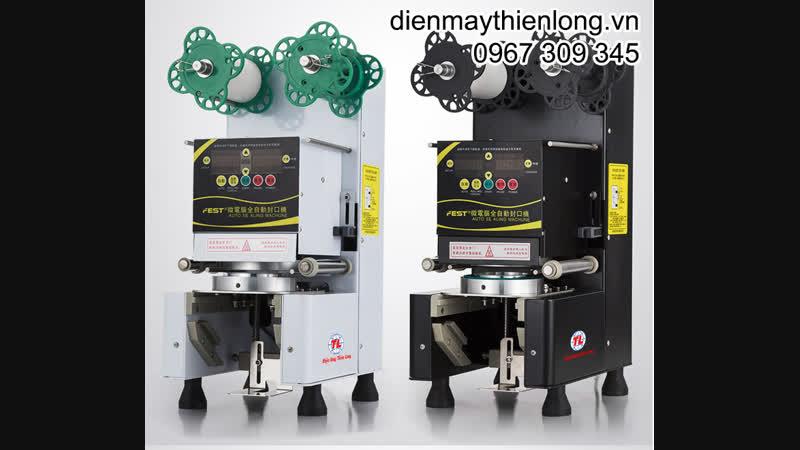 HDSD Máy ép miệng ly trà sữa tự động nhập khẩu Đài Loan FEST
