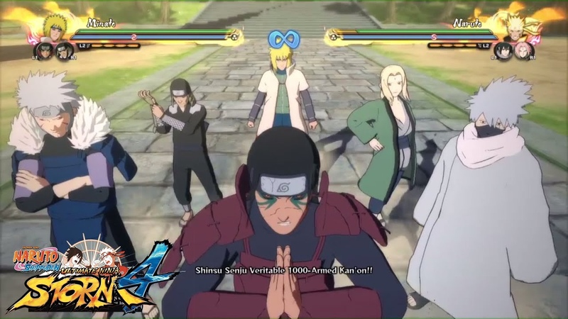 ALL HOKAGE TEAM ULTIMATE JUTSU | Naruto Storm 4 DLC 1 Gameplay