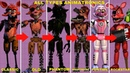 Как менялись все аниматроники фнаф