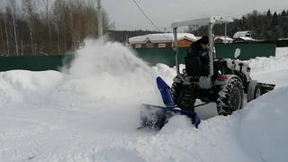 Минитрактор Скаут Т25 работа снегоуборщиком