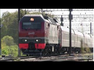 Электровоз ЭП2К-033 с поездом №14  Санкт-Петербург — Новокузнецк