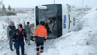 Смертельное ДТП в Турции. Автобус с российскими туристами перевернулся из-за гололеда