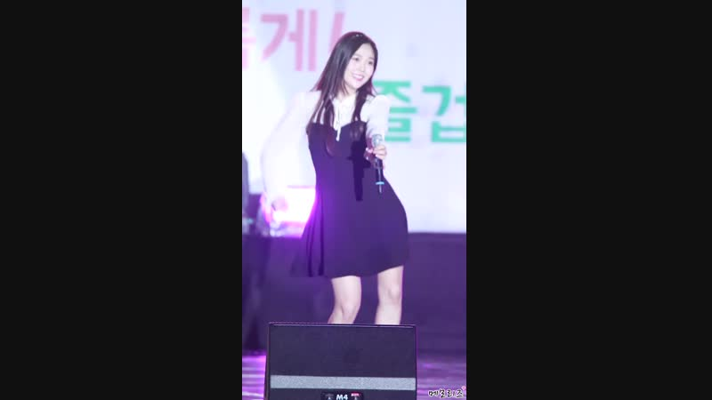 · Fancam · 180916 · OH MY GIRL - A-ing (Hyojung focus) · 2018 Anyang Citizen Festival ·
