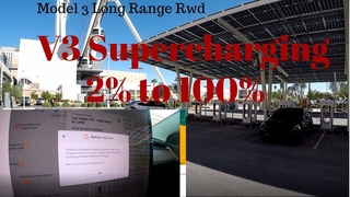Tesla Model 3 Long Range- V3 Supercharging 250kW - 2% to 100% - How fast can it charge?