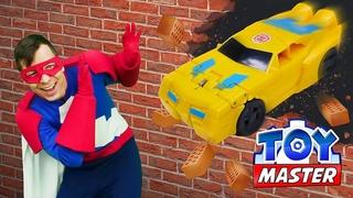 Видео игра - Бамблби идёт на Таран! Сражения Роботов Рыцарей! - Трансформеры игры в шоу Той Мастер