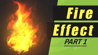 HOW TO DRAW FIRE FOR UNITY - Stylized Fire Game Effect - Part 1