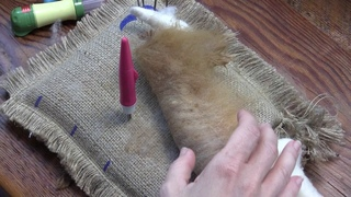 Needle Felted Camel Part 4 - Neck and Face