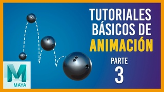 Tutorial básico de animación en Maya ::: Rebote de pelota horizontal de bolos/Bowling ball Bounce