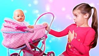 Spielspaß mit Baby Born. Mascha spielt  Puppen Mama. Spielzeug Video für Kinder