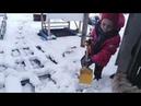 Детская радость снег Сибирь 27 апреля🌹Children's joy on April 27